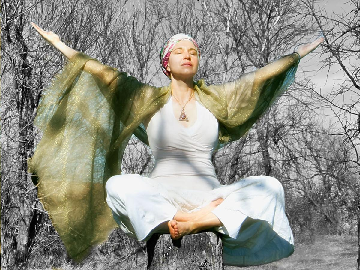medytująca kobieta
