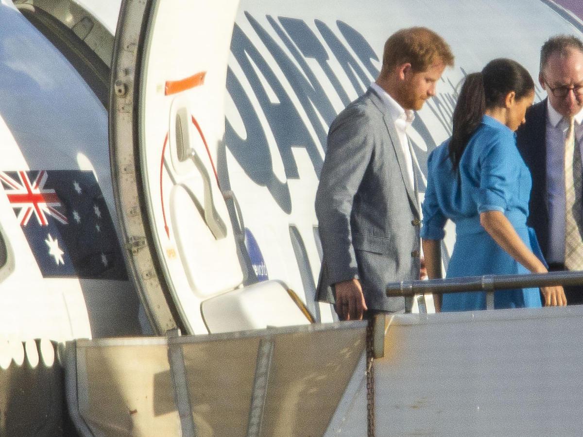 Meghan i Harry, problem z lądowaniem w Sydney