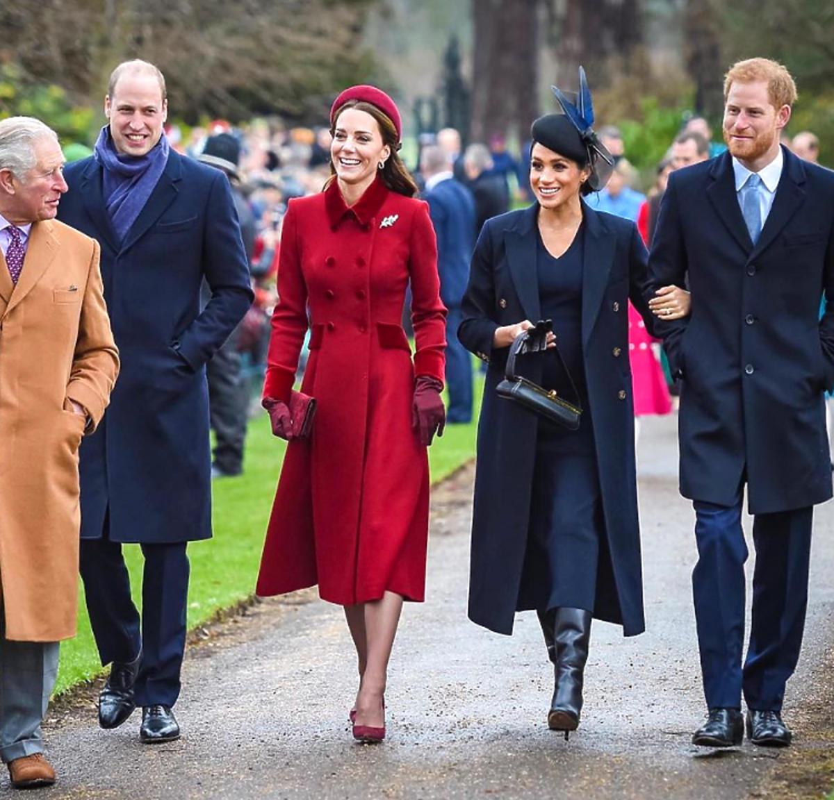 Meghan, Kate, William, Harry, karol