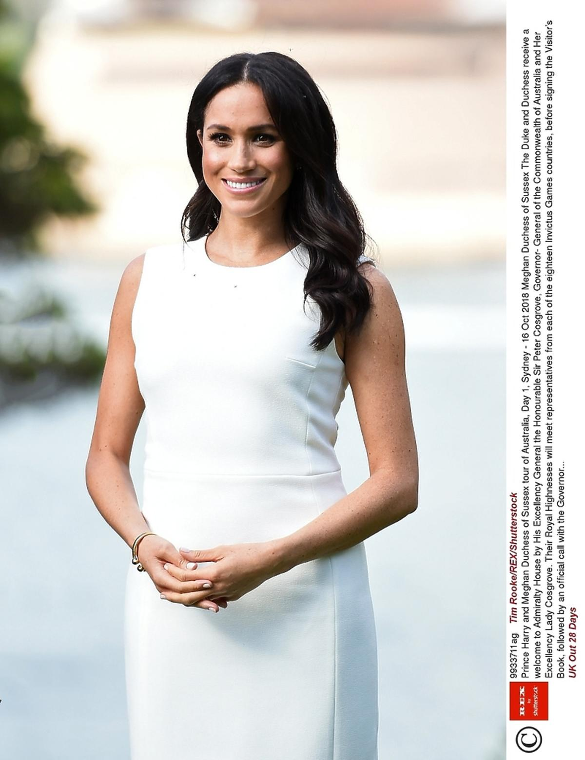 Meghan Markle biała sukienka w Sydney