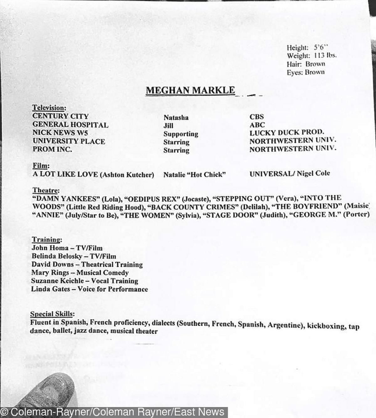 Meghan Markle CV