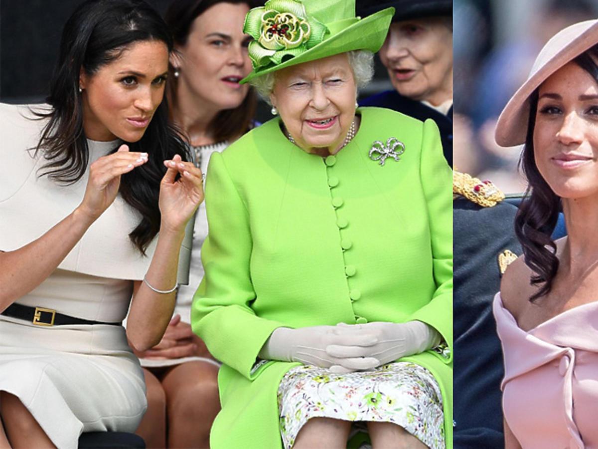 Meghan Markle i królowa Elżbieta II podczas oficjalnej wizyty