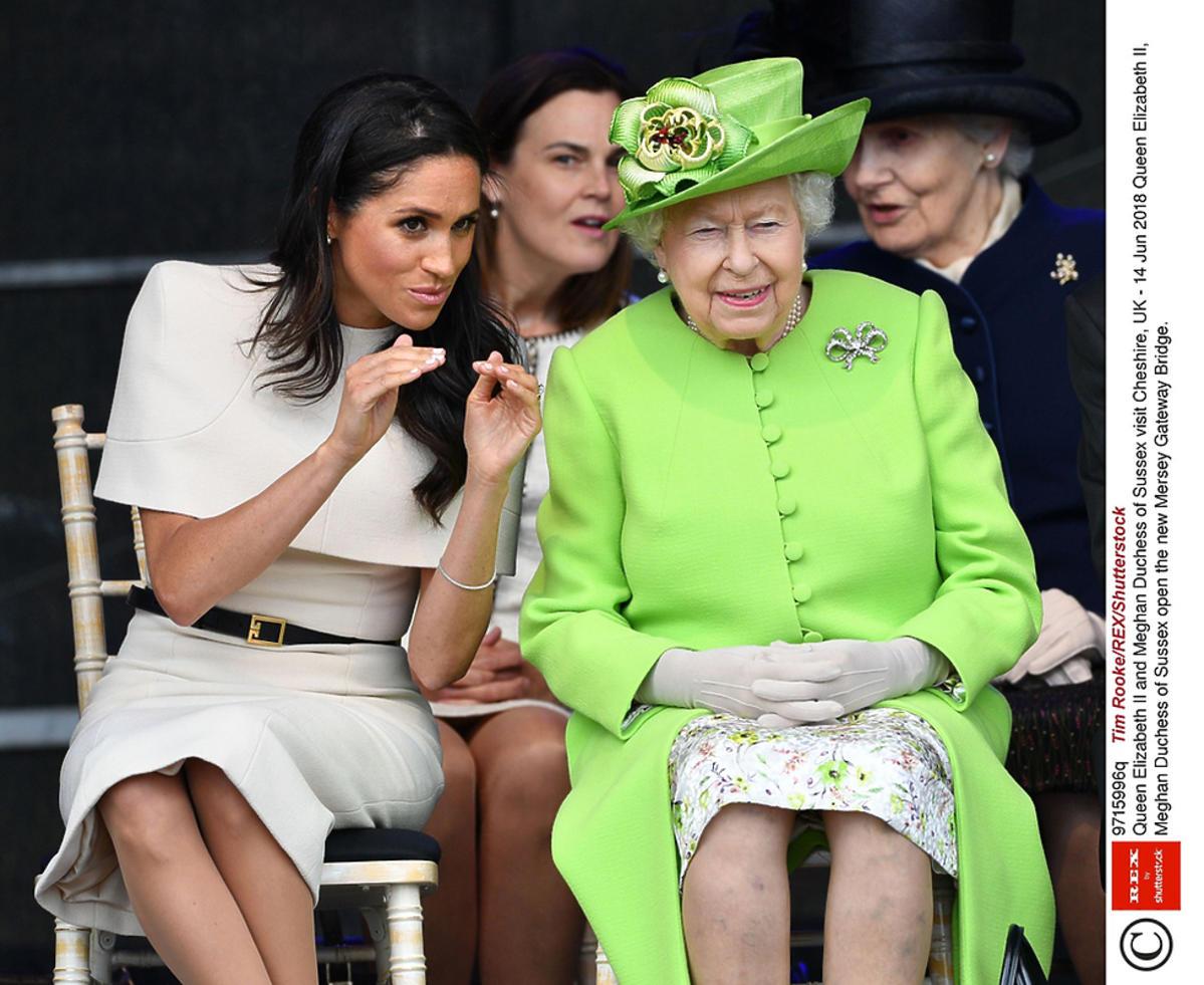 Meghan Markle i królowa Elżbieta II w Cheshire