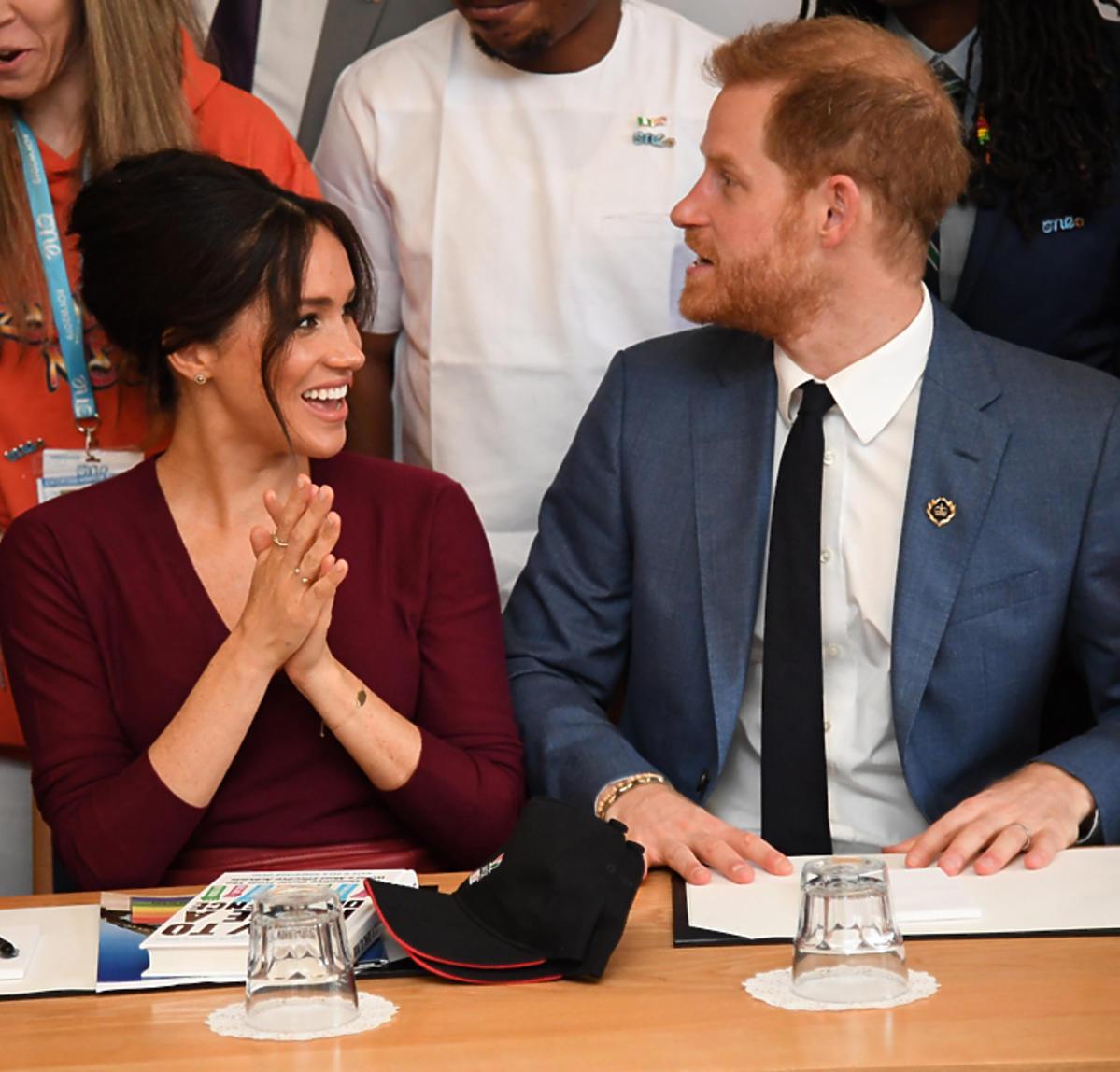 Meghan Markle i książę Harry na dyskusji o równouprawnieniu