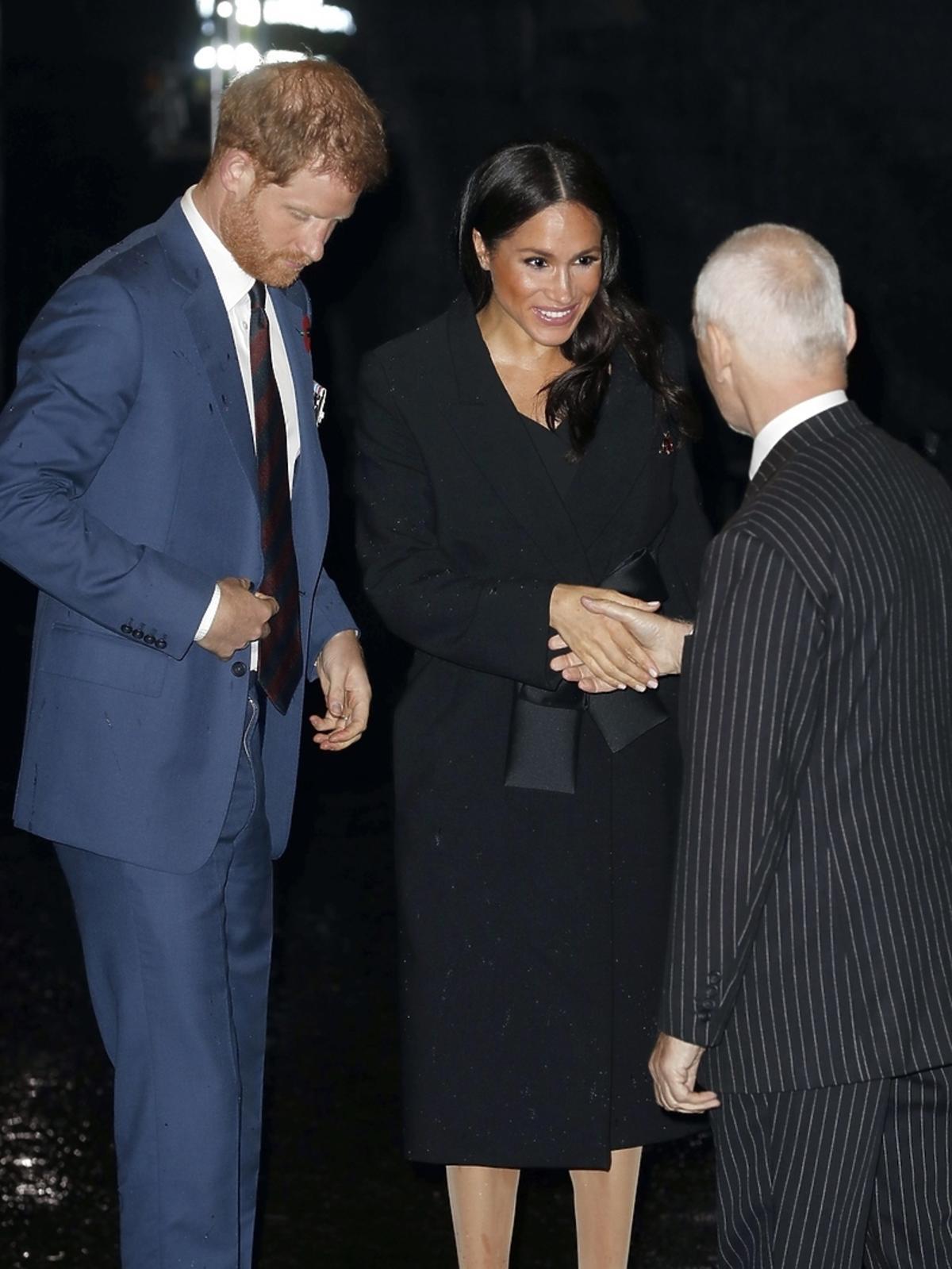 Meghan Markle i książę Harry na obchodach Dnia Pamięci