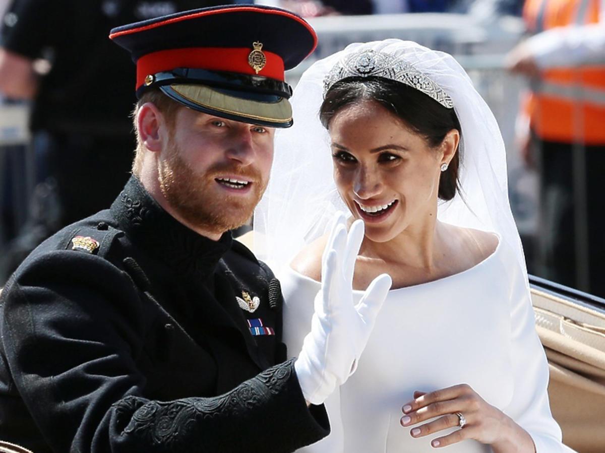 Meghan Markle i książę Harry podczas ślubu