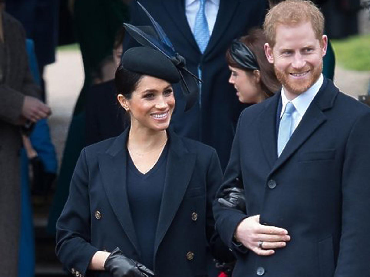 Meghan Markle i książę Harry podczas świąt