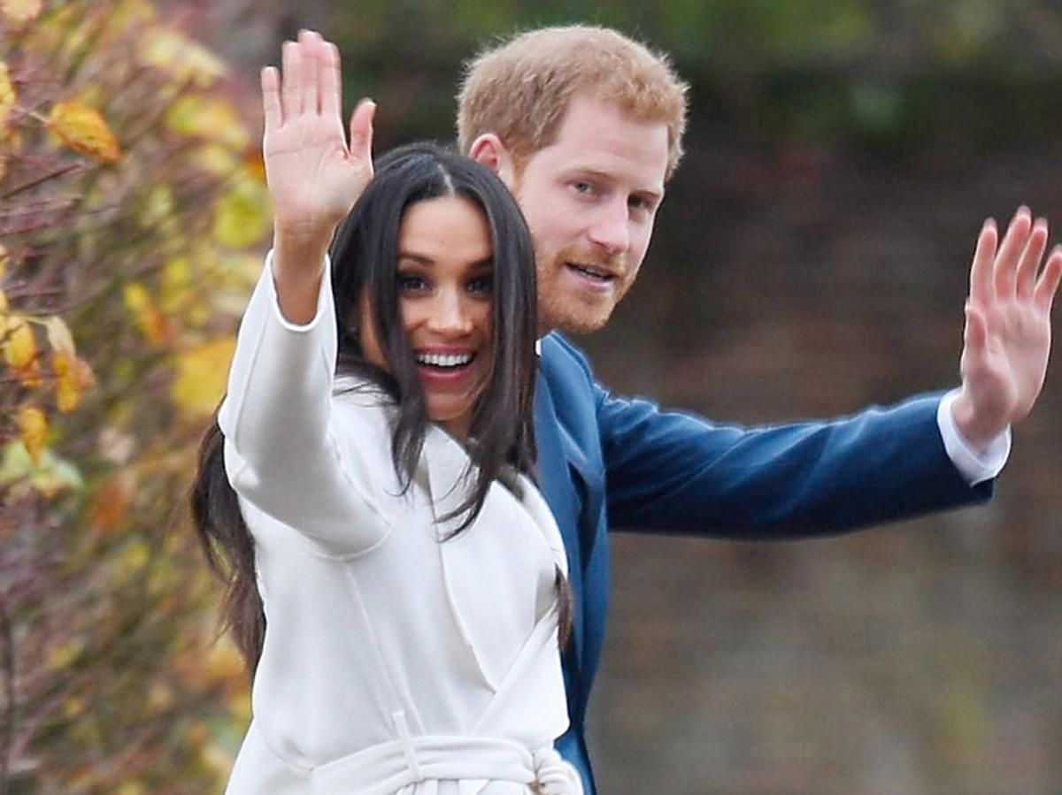 Meghan Markle i książę Harry tuż po ogłoszeniu swoich zaręczyn