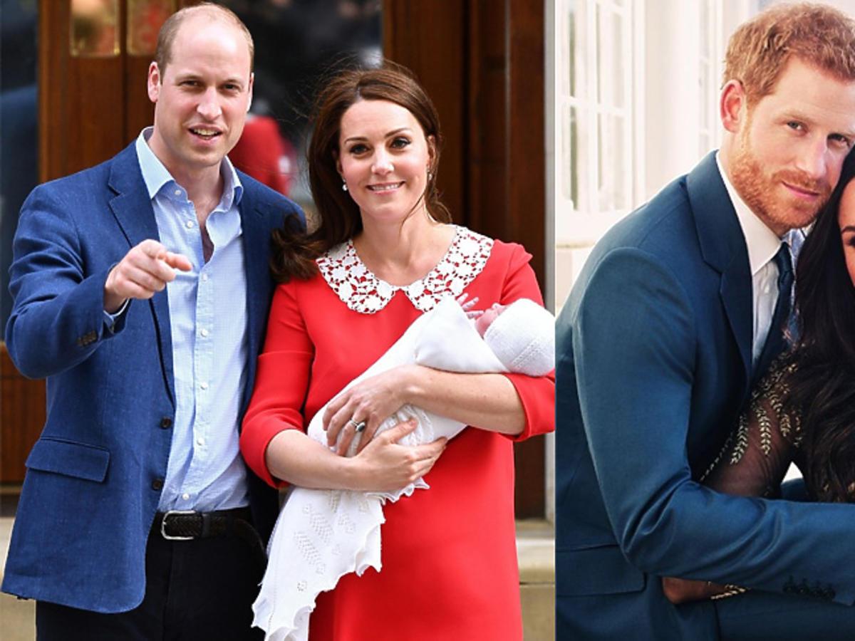Meghan Markle i książę Harry zaręczynowe zdjęcie, księżna Kate i książę William z księciem Ludwikiem