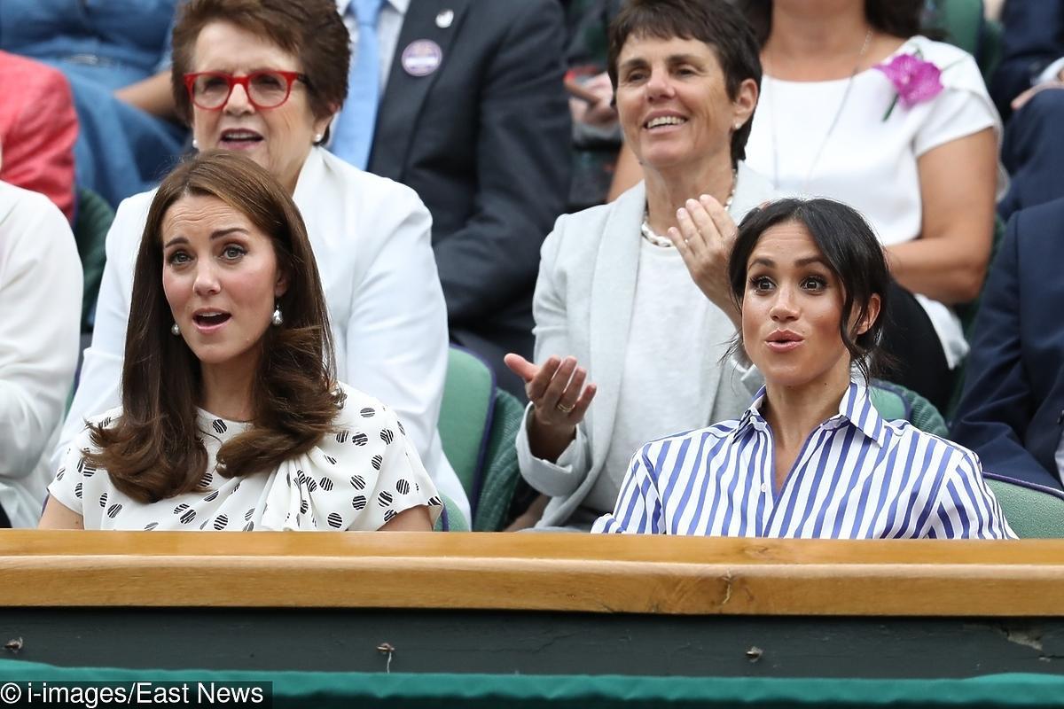 Meghan Markle i księżna Kate na Wimbledonie w Londynie