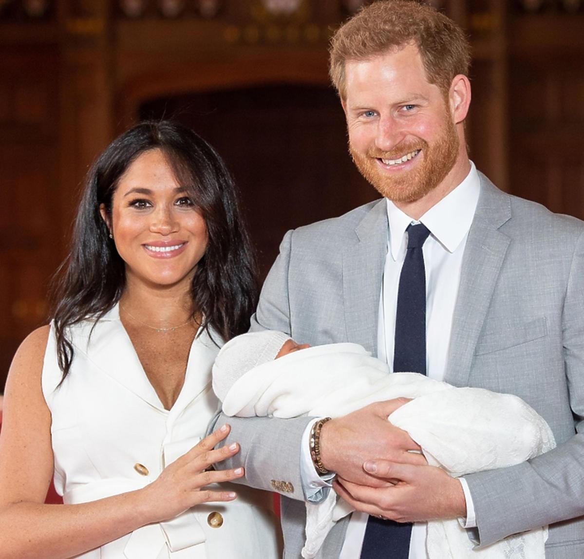 Meghan Markle, książę Harry z synem