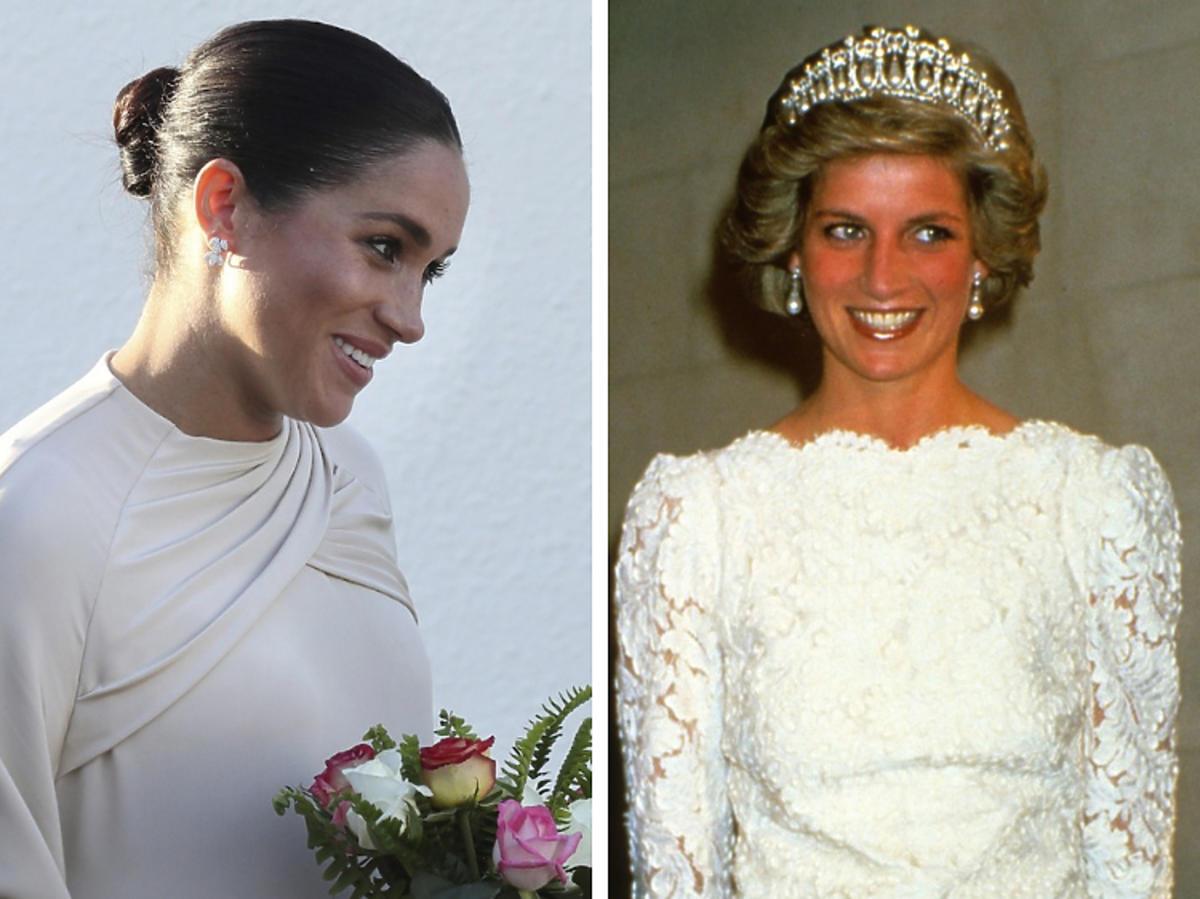 Meghan Markle, księżna Diana z tiarą