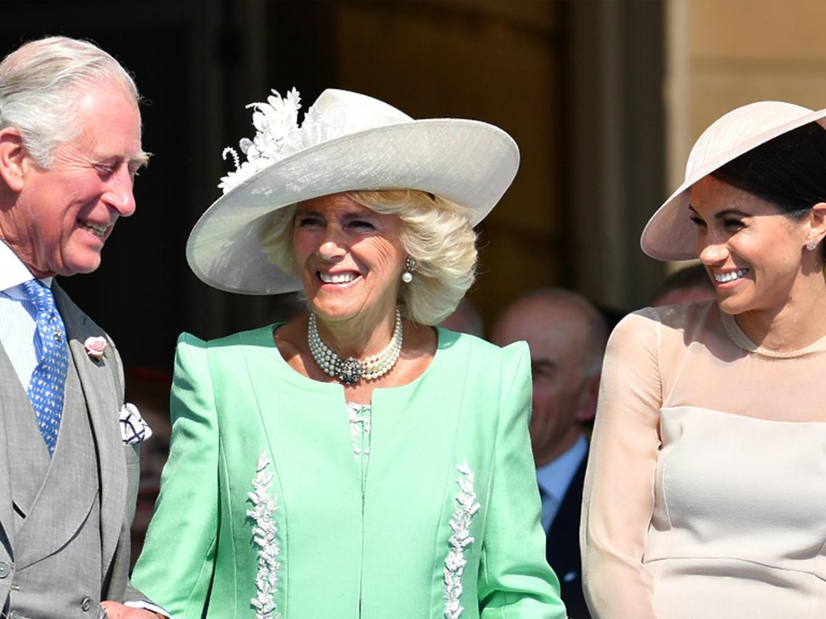 Meghan Markle roześmiana w towarzystwie księcia Karola