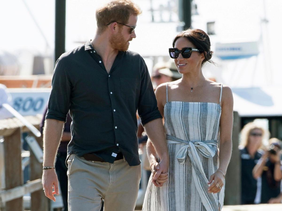 Meghan Markle w sukience w paski, którą kupisz teraz w H&M
