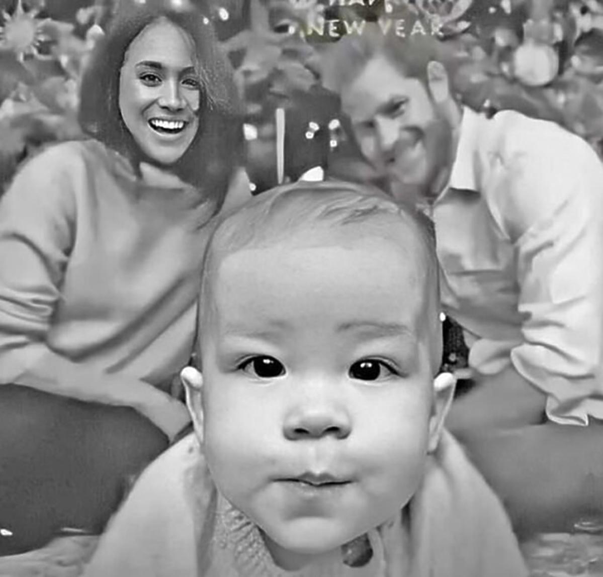 Meghan Markle wpadka z Photoshopem na świątecznej kartce
