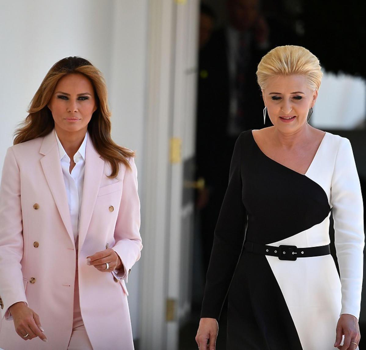 Melania Trump, Agata Duda w Białym Domu