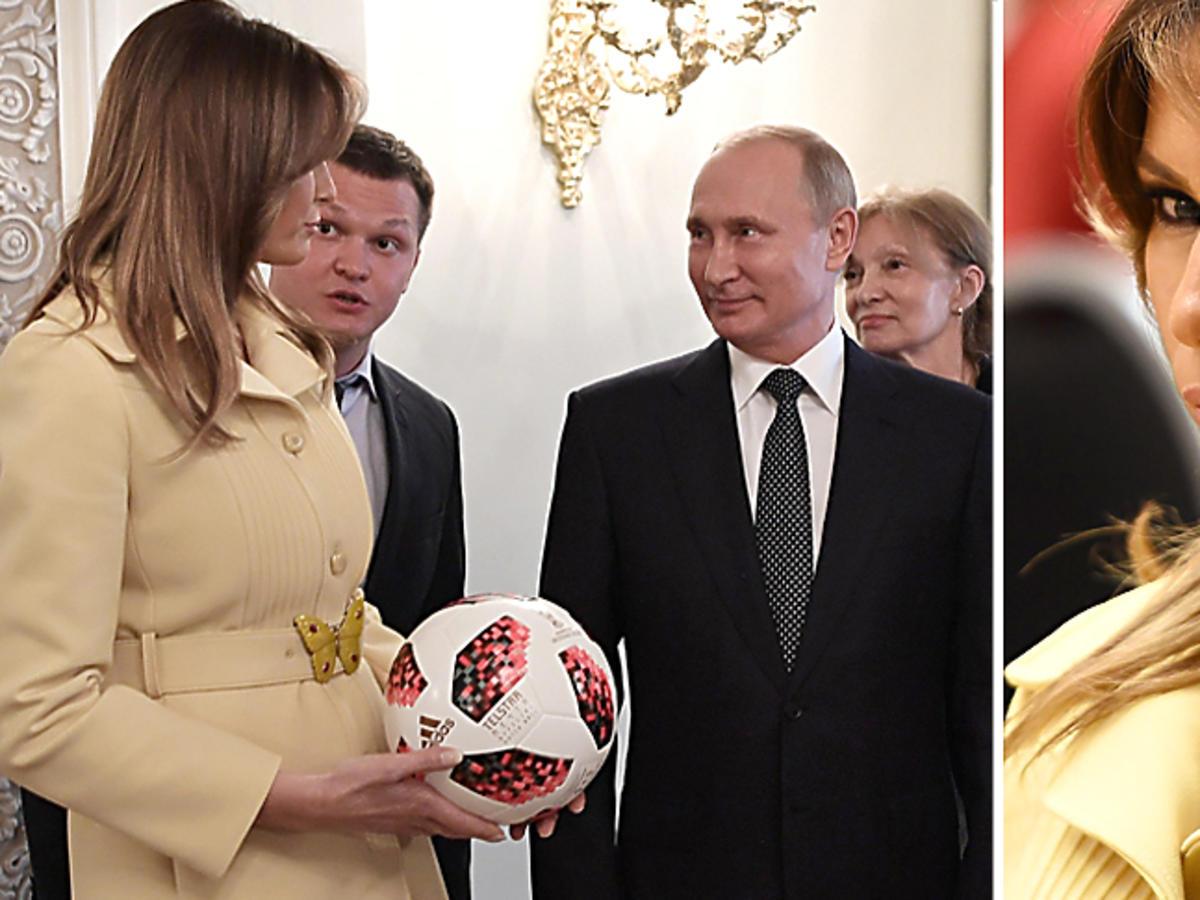 Melania Trump i Władimir Putin na szczycie w Helsinkach