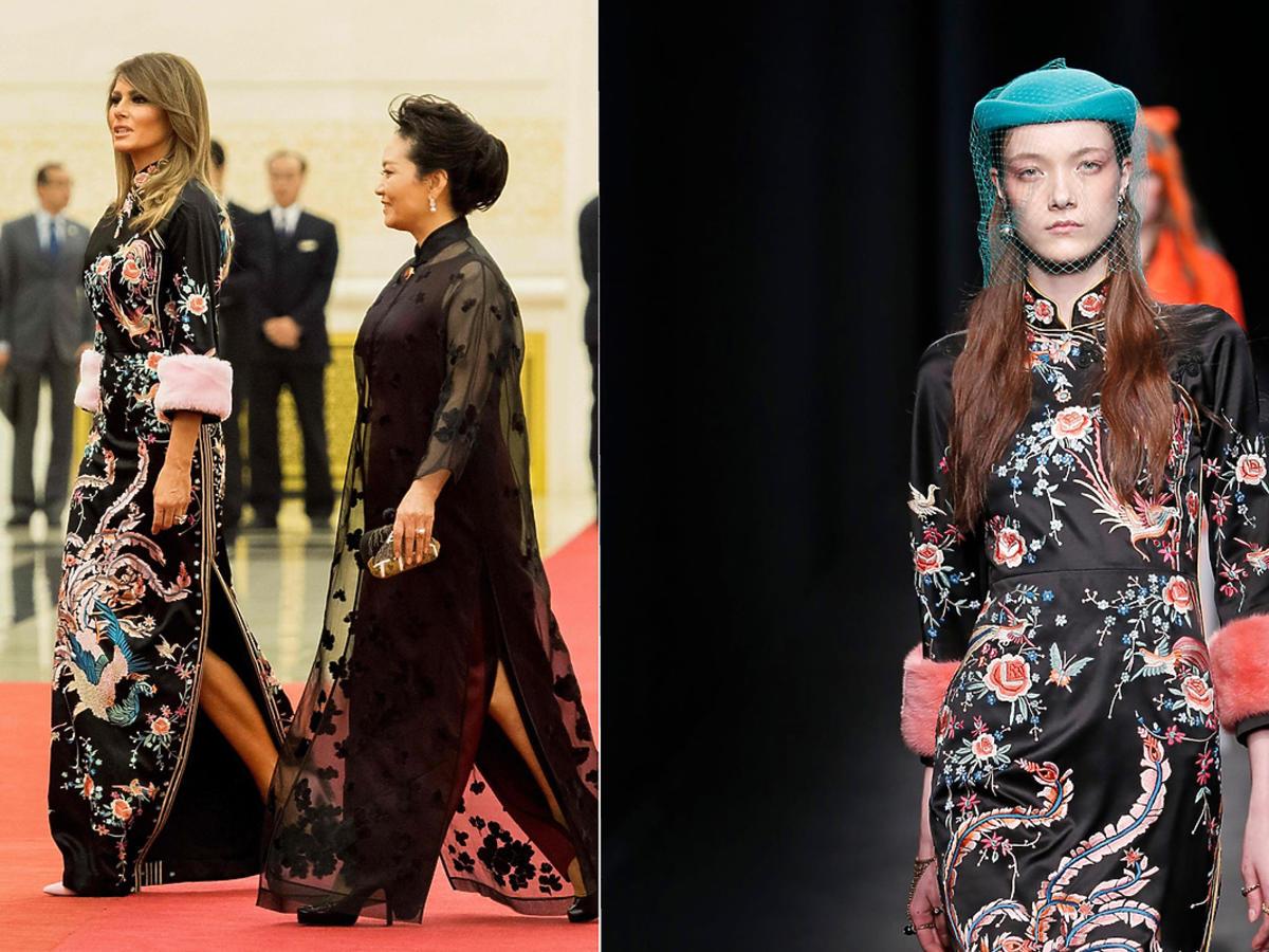 Melania w sukni Gucci w Chinach