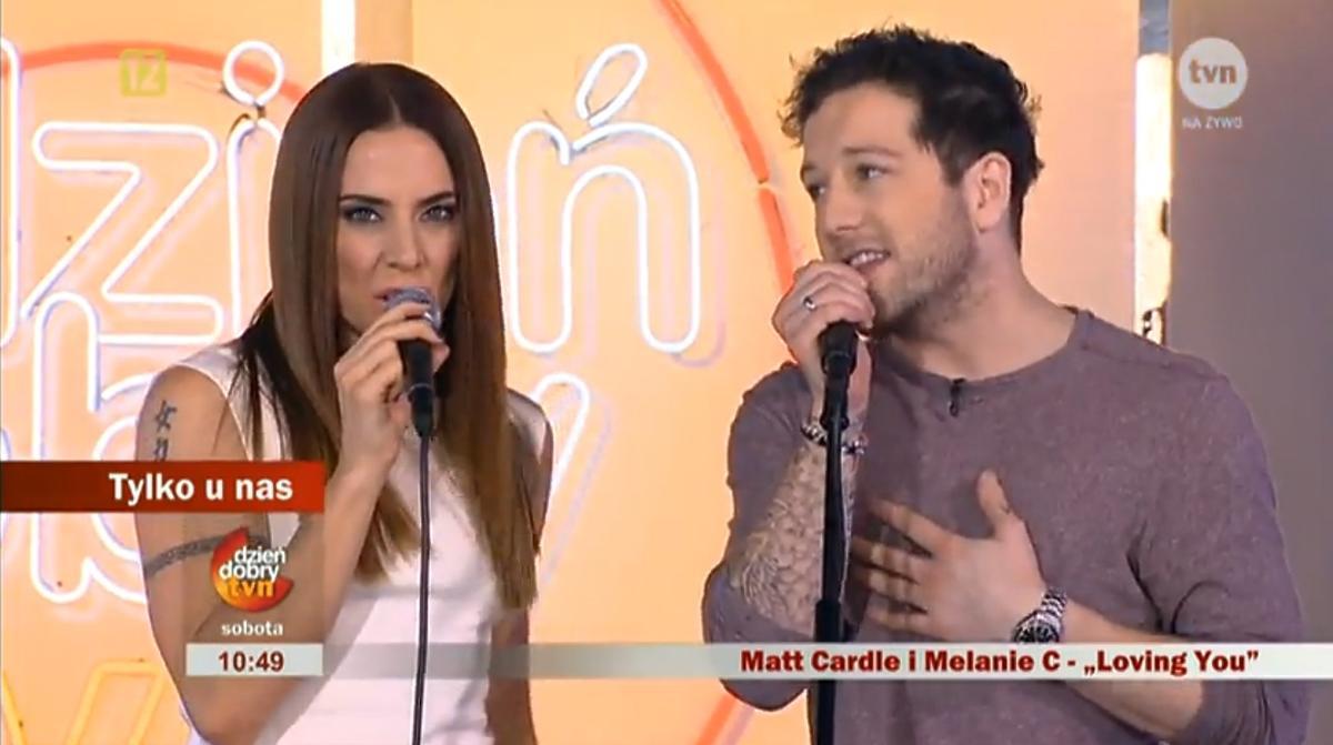 Melanie C i Matt Cardle w Dzień Dobry TVN