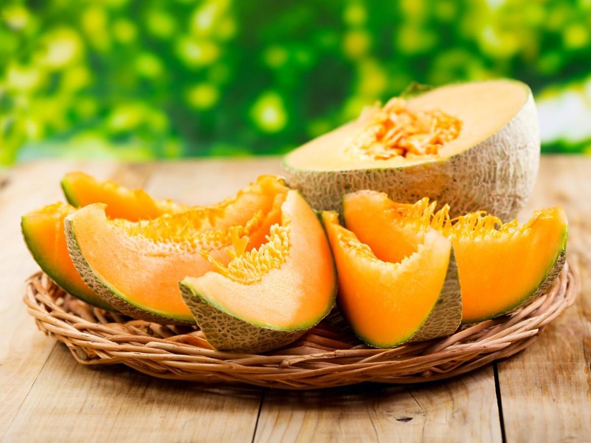 melon pokrojony na kawałki