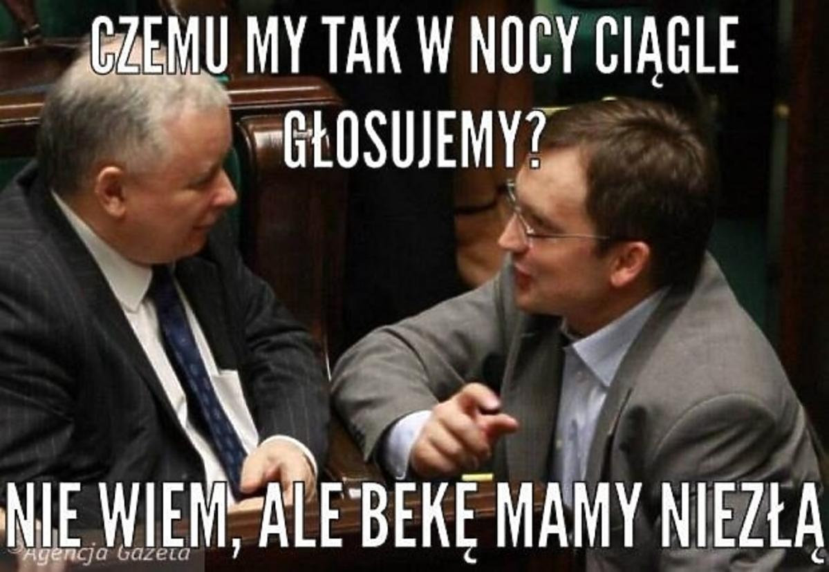 Mem - Jarosław Kaczyński rozmawia ze Zbigniewem Ziobro
