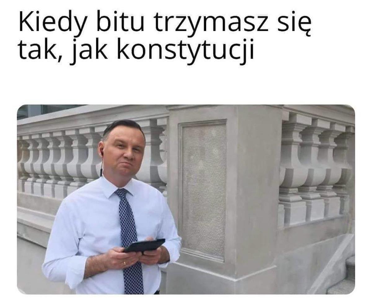 memy z Andrzejem Dudą