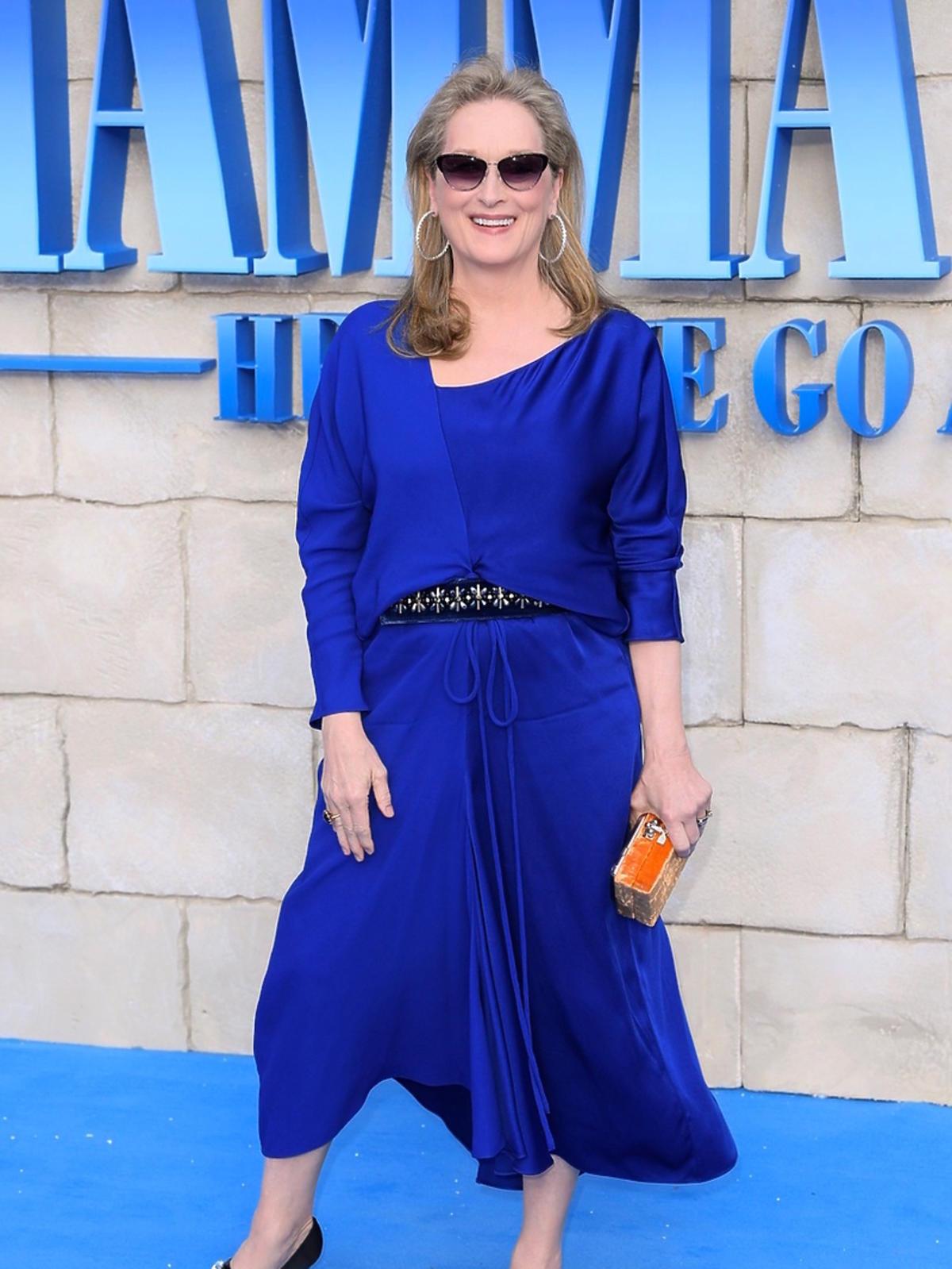 Meryl Streep na premierze Mamma Mia! Here We Go Again