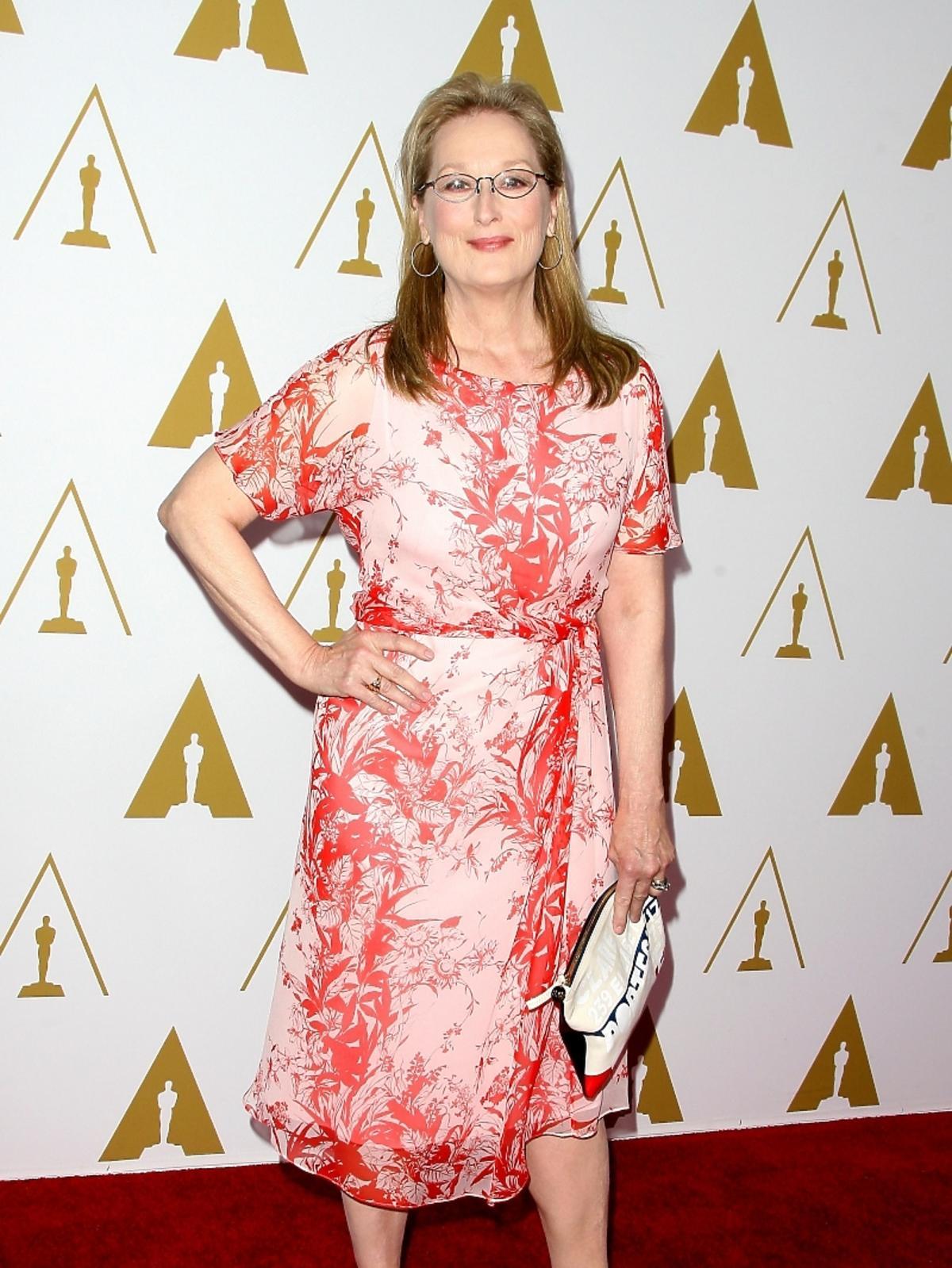 Meryl Streep podczas konferencji prasowej nominacji do Oscarów 2014