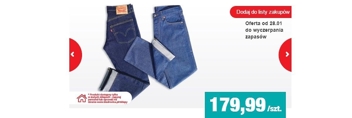 Męskie spodnie dżinsowe granatowe i niebieskie