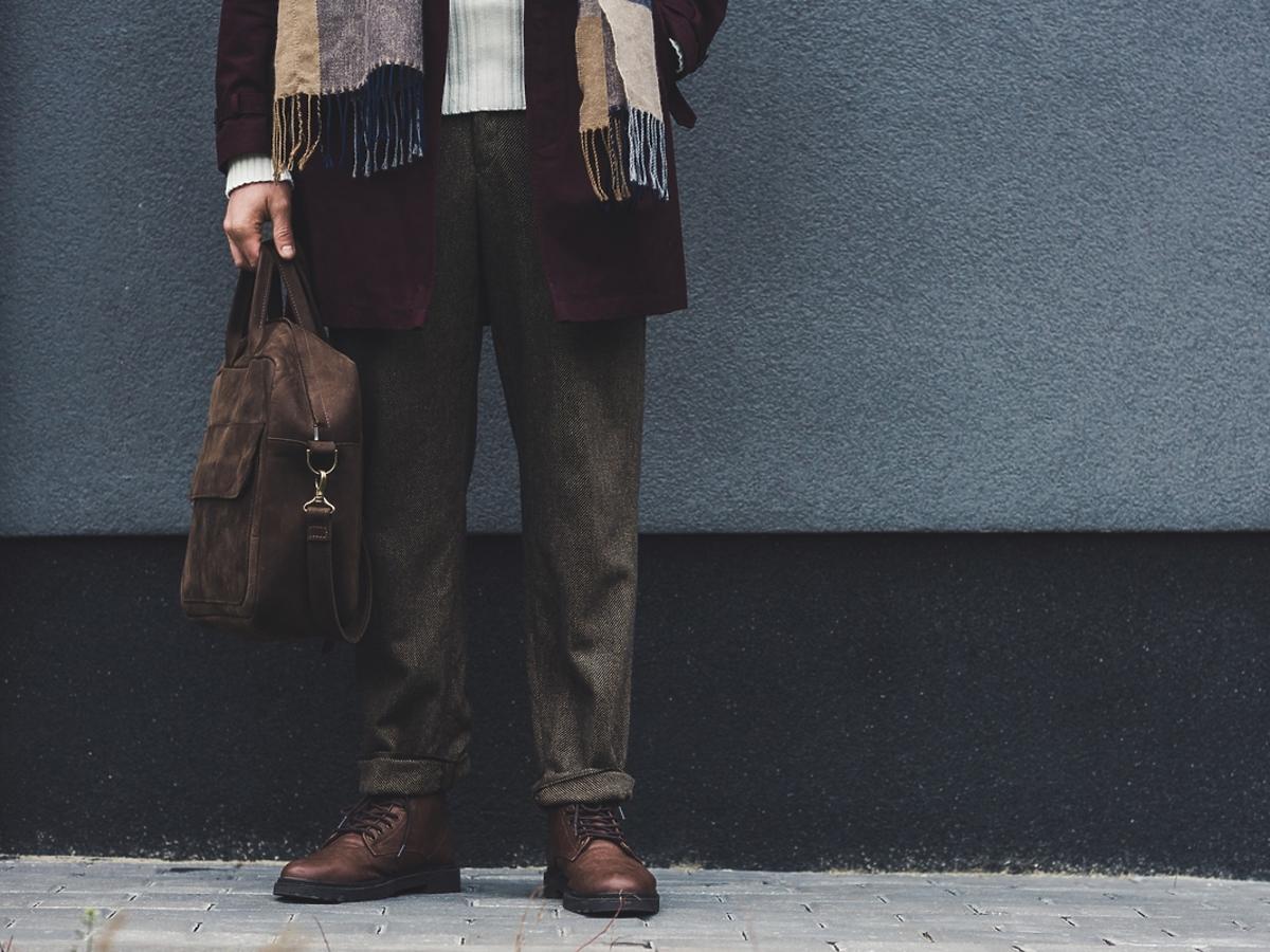 Męskie ubrania na jesień.