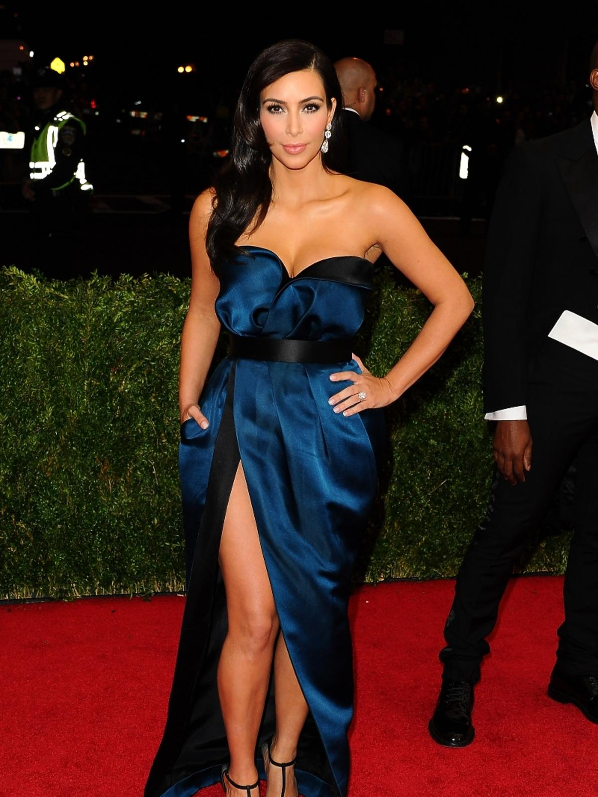 MET Gala 2014: Kim Kardashian w sukience Lanvin