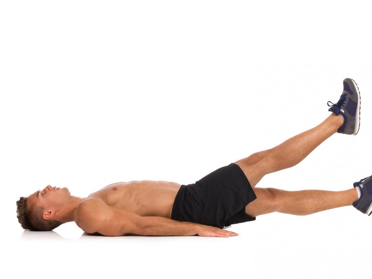 Mężczyzna ćwiczący