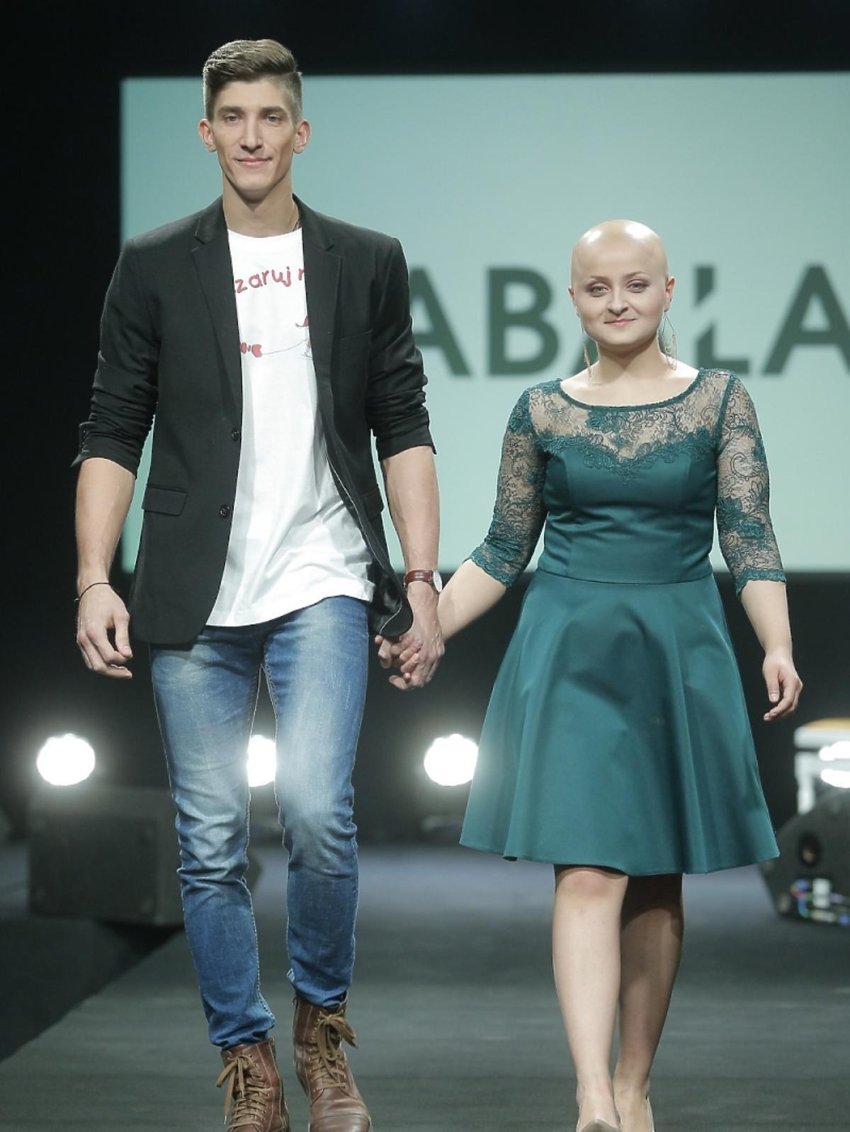 Michał Baryza na pokazie mody
