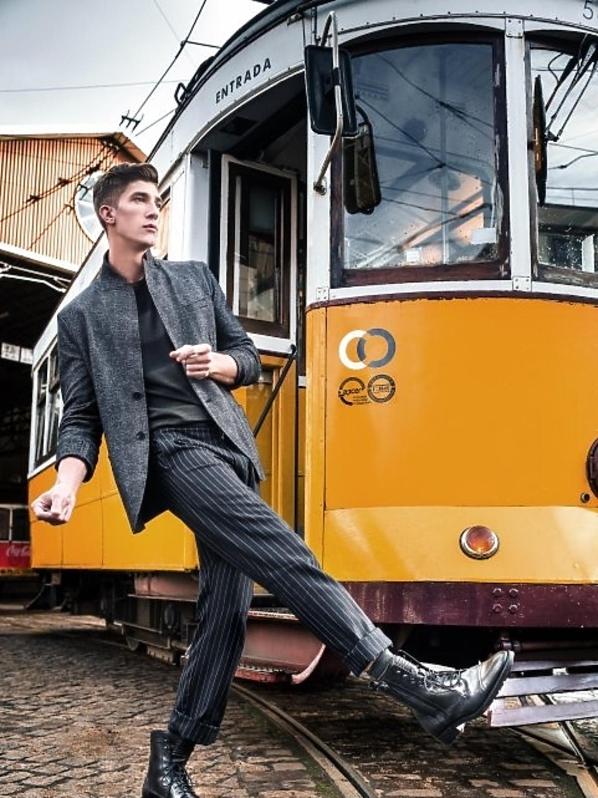 Michał Baryza na sesji zdjęciowej w Top Model