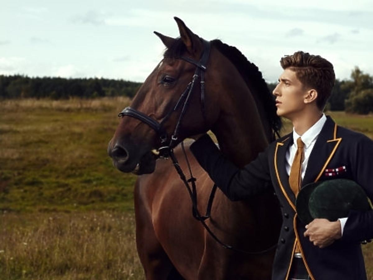 Michał Baryza w sesji konnej w Top Model
