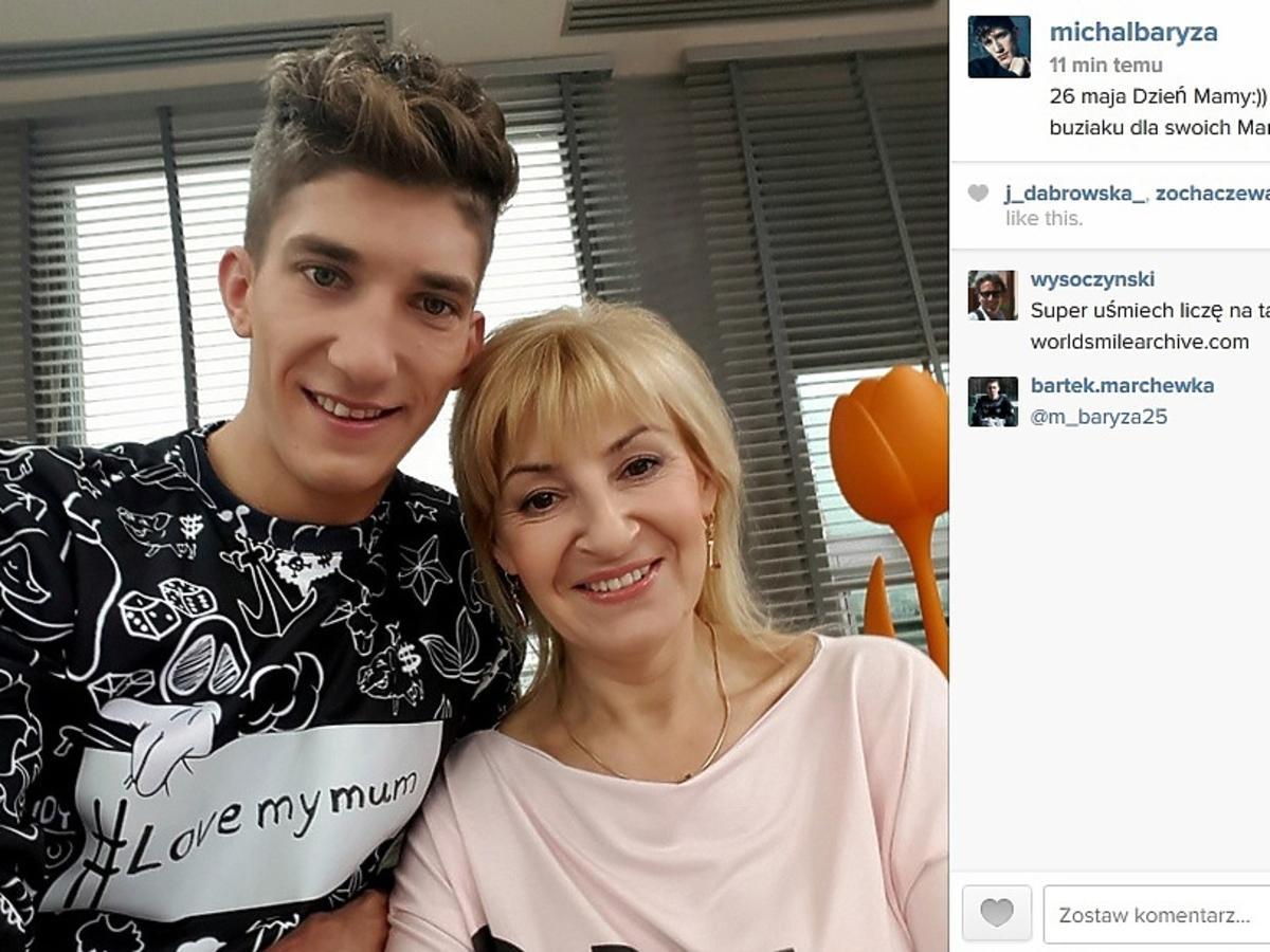 Michał Baryza złożył życzenia swojej mamie