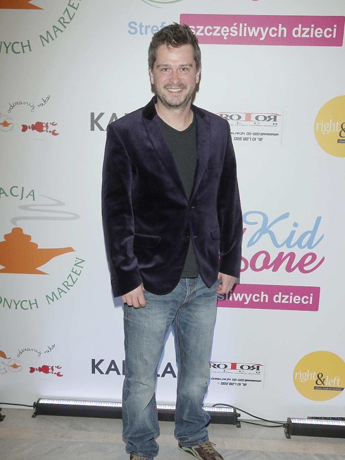 Michał Lewandowski na pokazie mody
