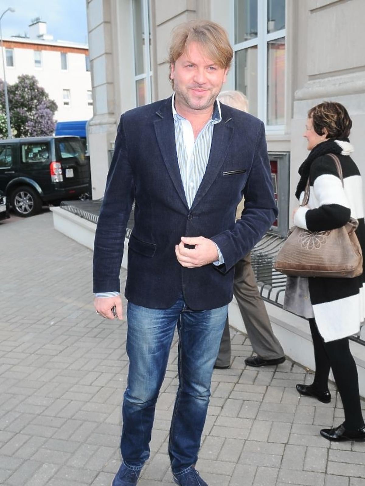 Michał Milowicz na premierze spektaklu Zwariowana terapia