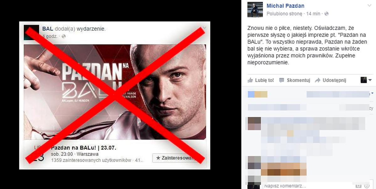 Michał Pazdan o aferze z warszawskim klubem