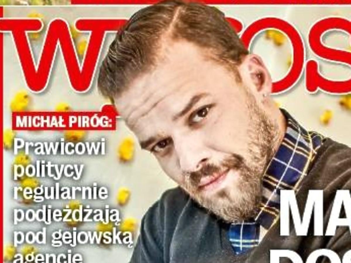 Michał Piróg na okładce WPROST