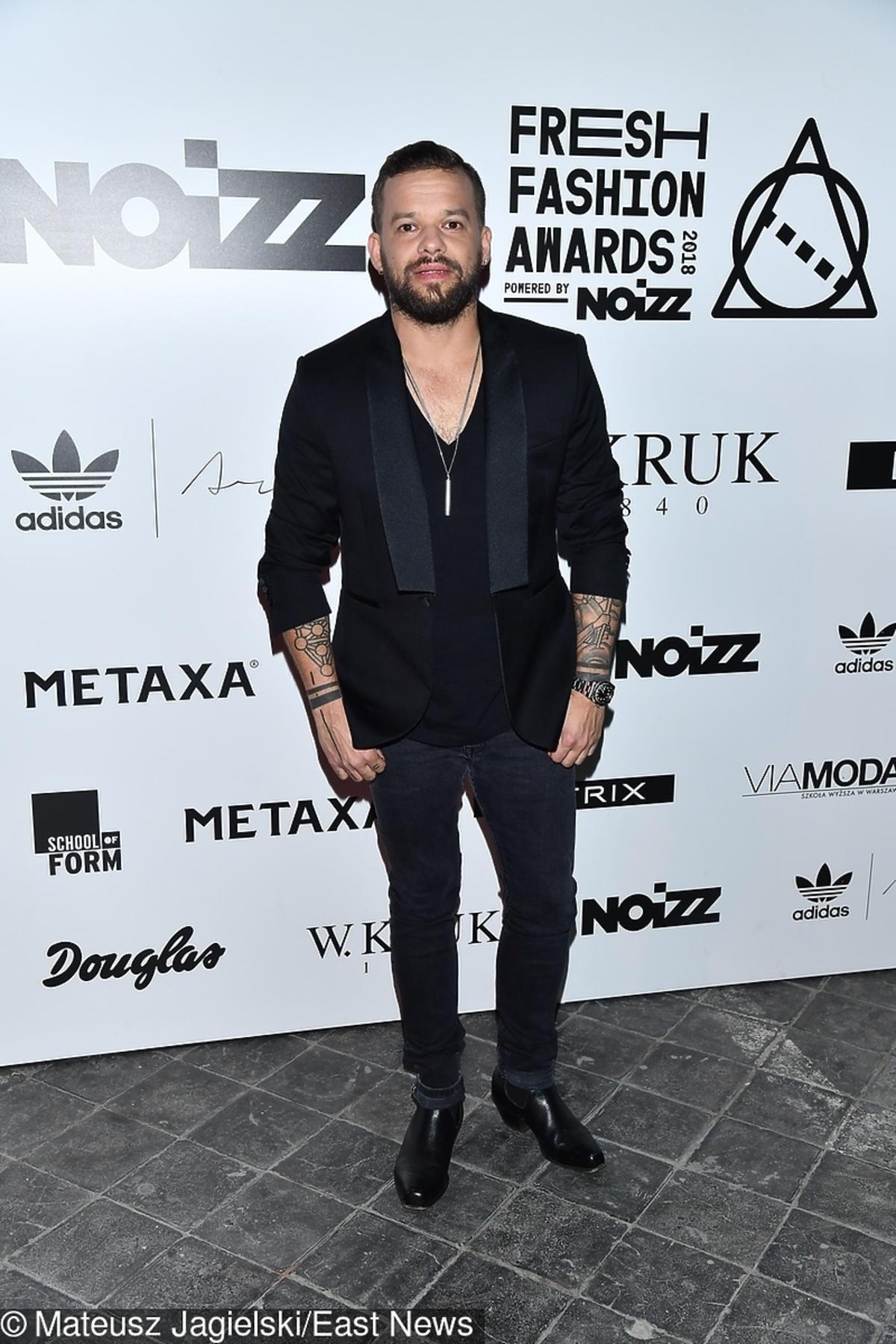 Michał Piróg podczas finału Fresh Fashion Awards powered by Noizz
