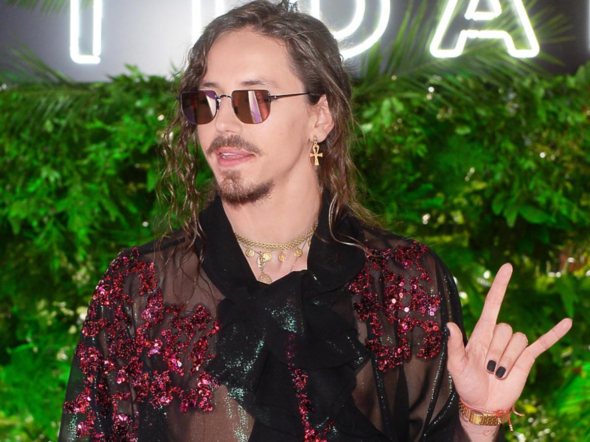 Michał Szpak na premierze płyty Prince'a