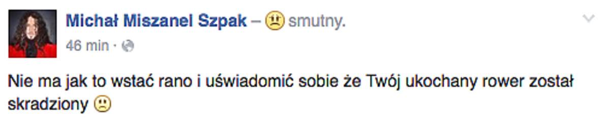 Michał Szpak okradziony!