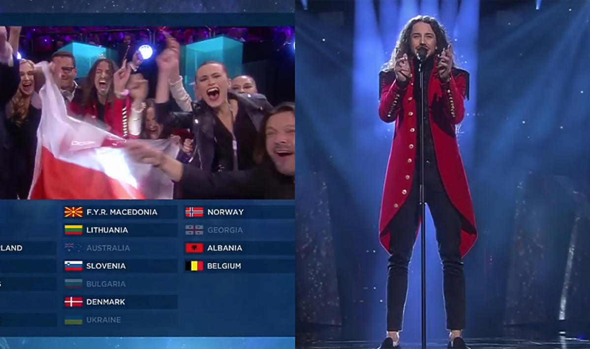 Michał Szpak w finale Eurowizji 2016