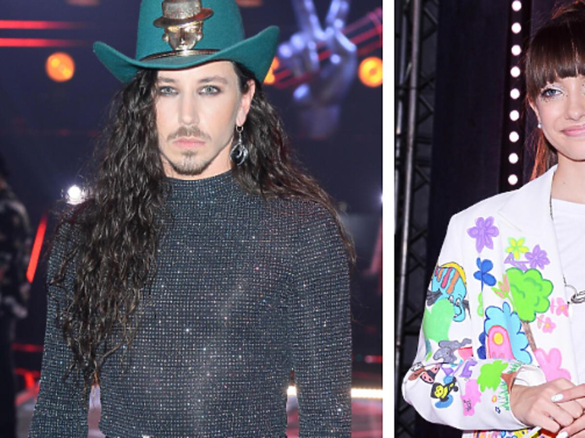 Michał Szpak w kapeluszu, Viki Gabor w kolorowej stylizacji