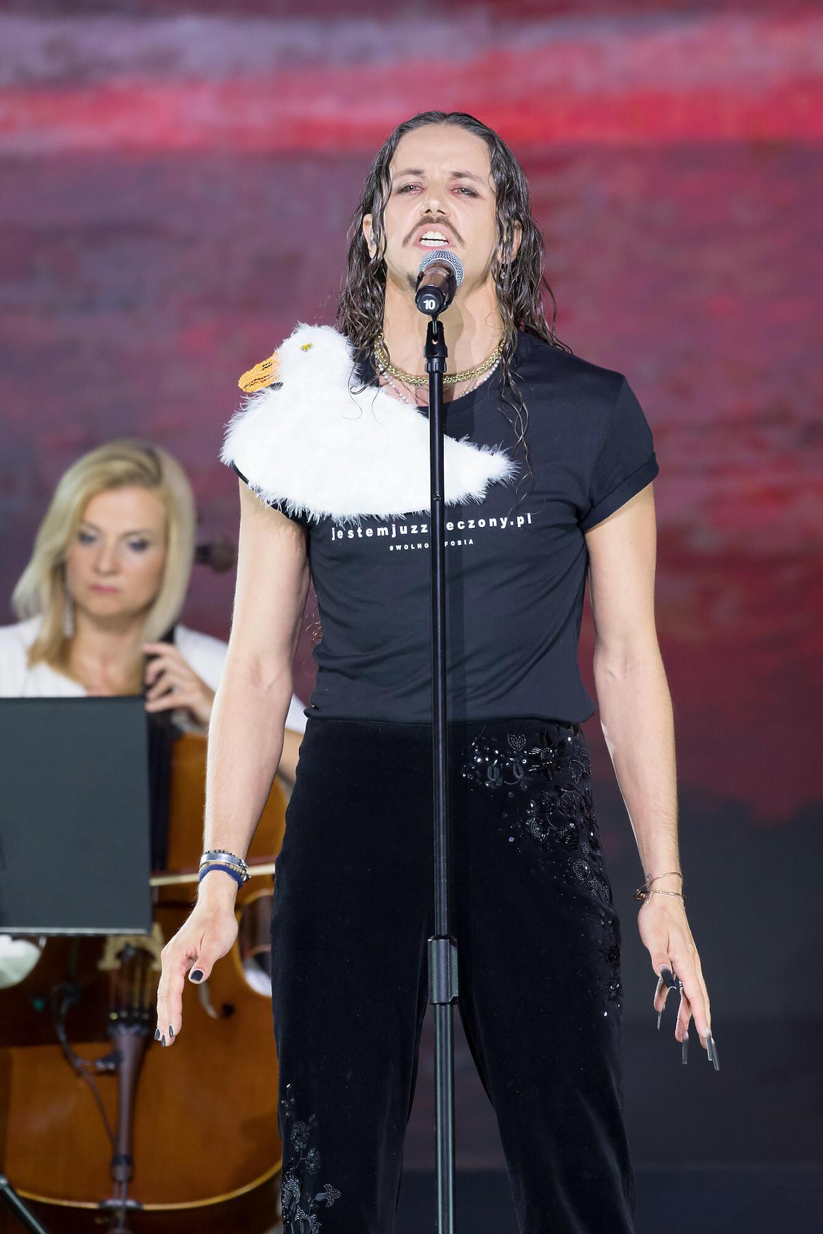 Michał Szpak wystąpił na galiwręczenia Medali Wolności Słowa