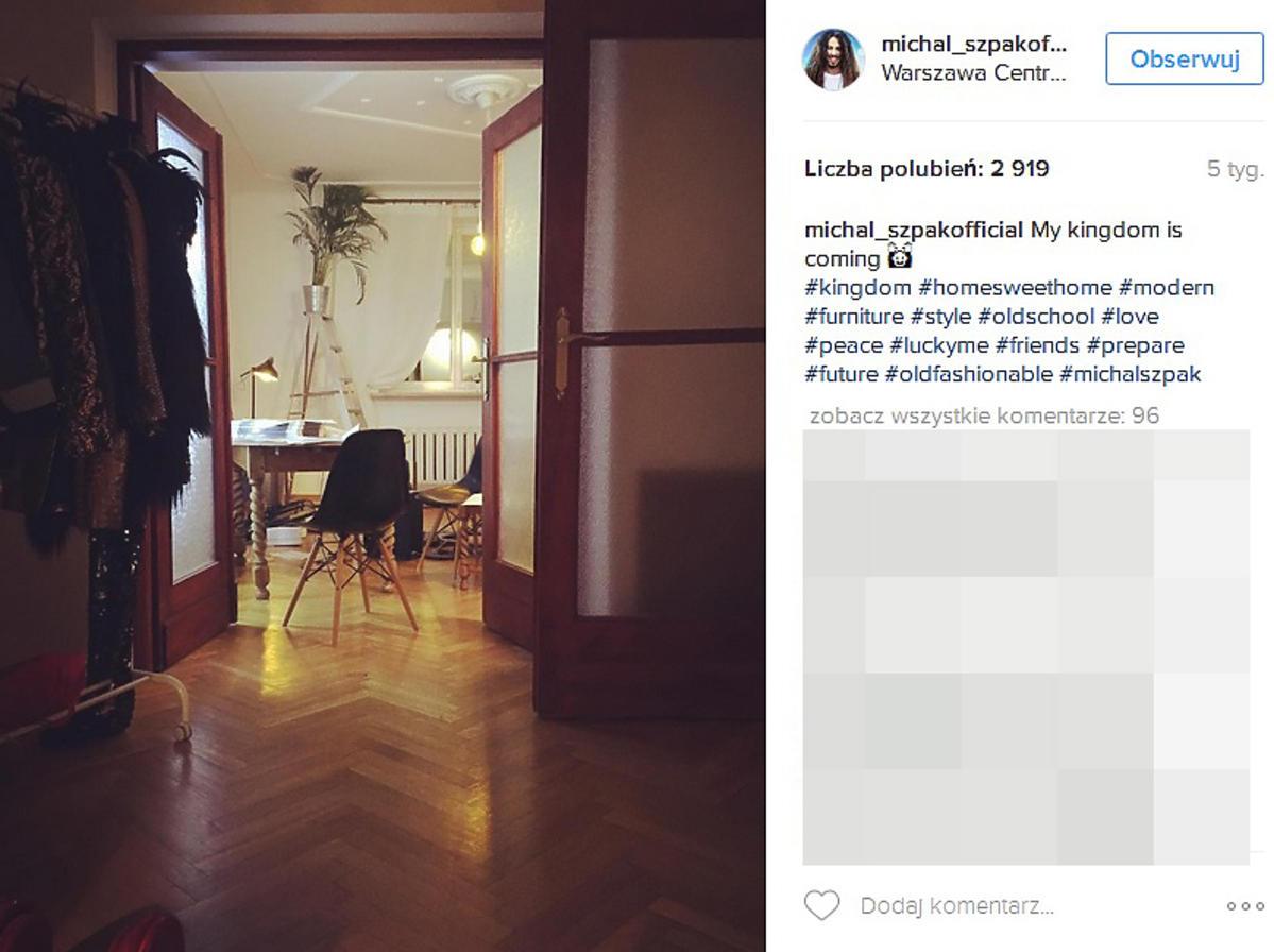 Michał Szpak zdradził, jak urządził swoje mieszkanie