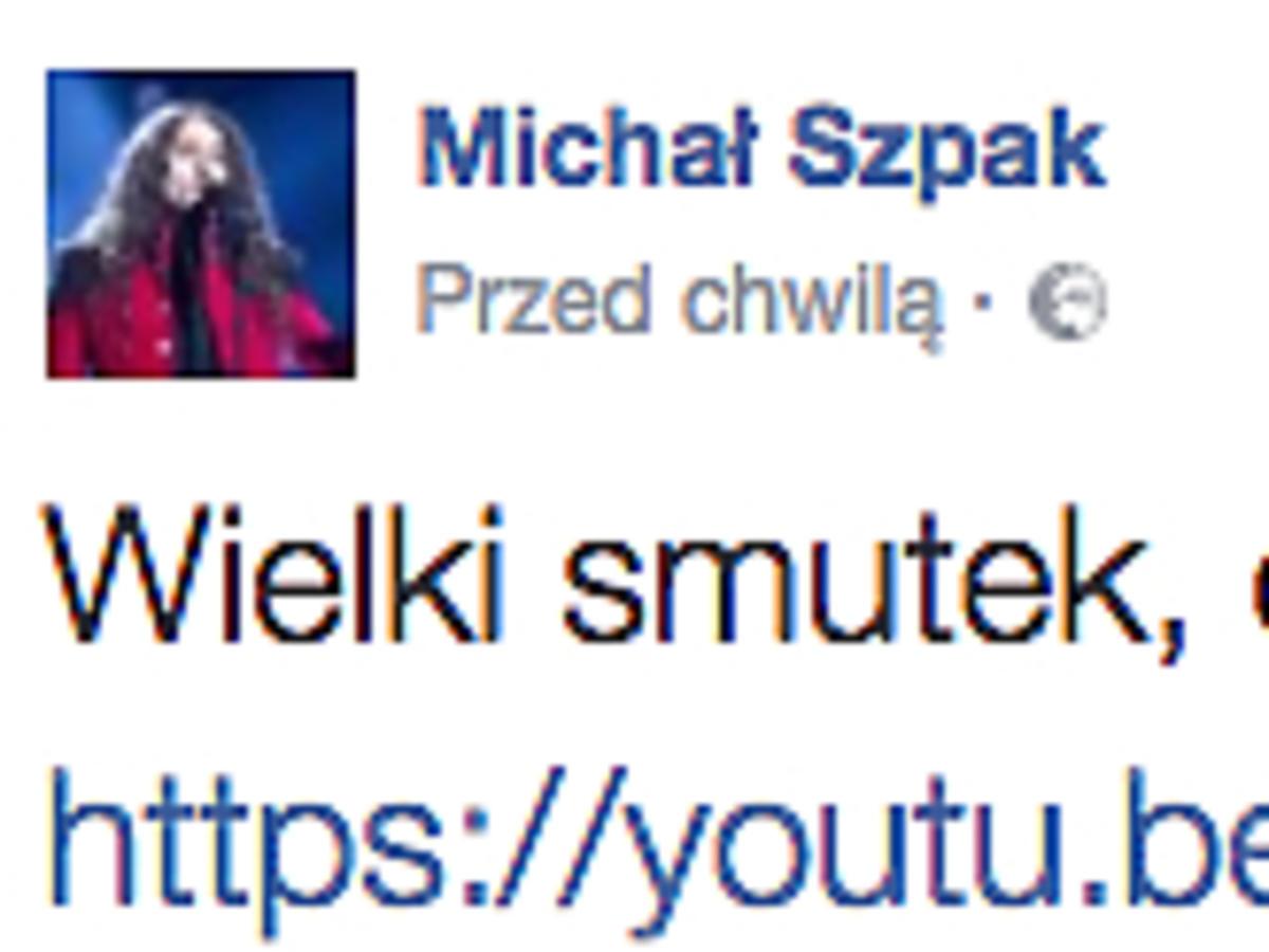 Michał Szpak żegna Zbigniewa Wodeckiego