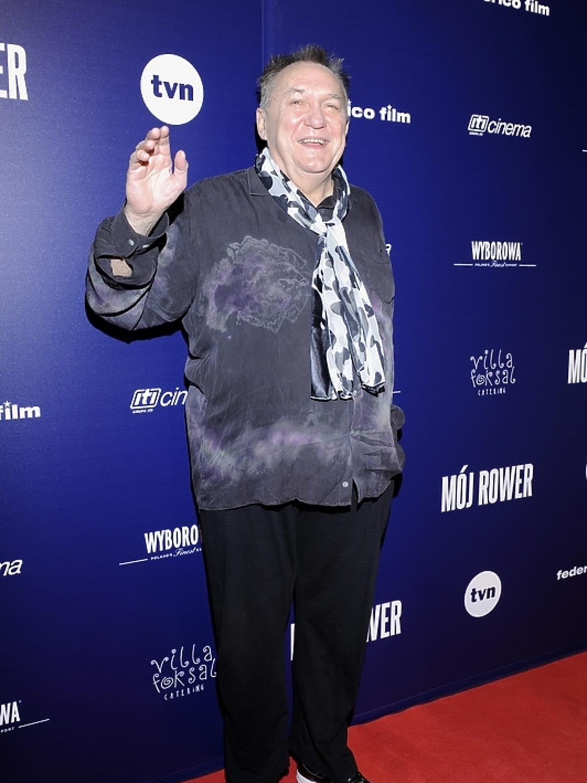 Michał Urbaniak na premierze filmu