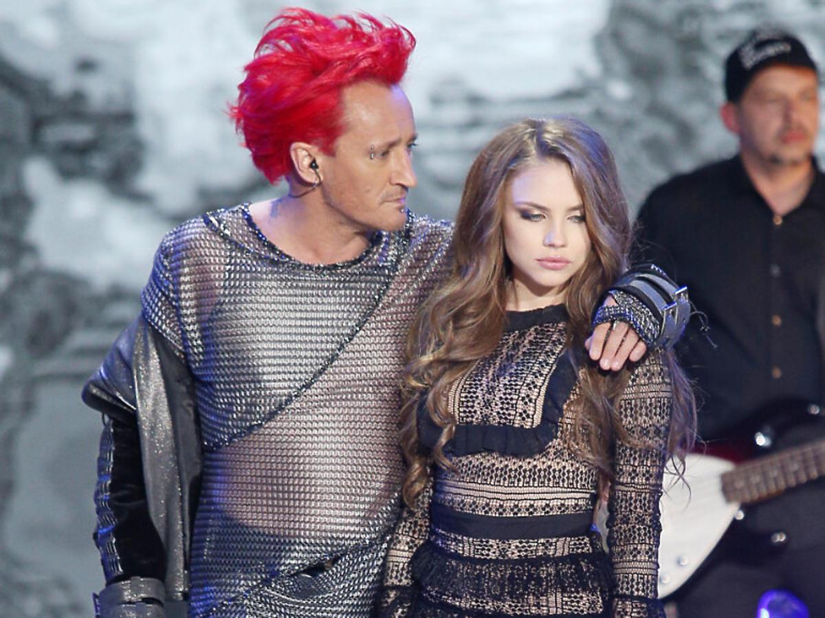 Michał Wiśniewski i Agata Buczkowska na koncercie Ich Troje